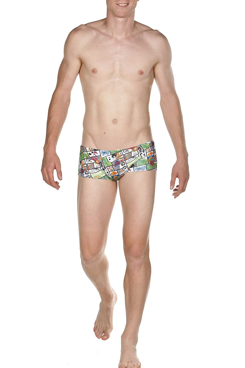 Μαγιό Μπόξερ Arena Summer Comics Low Waist 001744