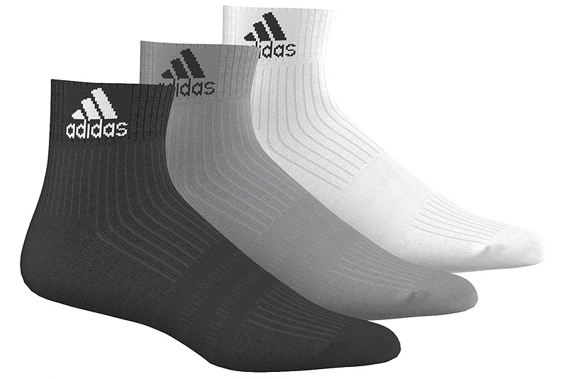 Κάλτσες adidas 3-Stripes Performance Ankle (3 ζεύγη) AA2287-WHITE-GREY-BLACK