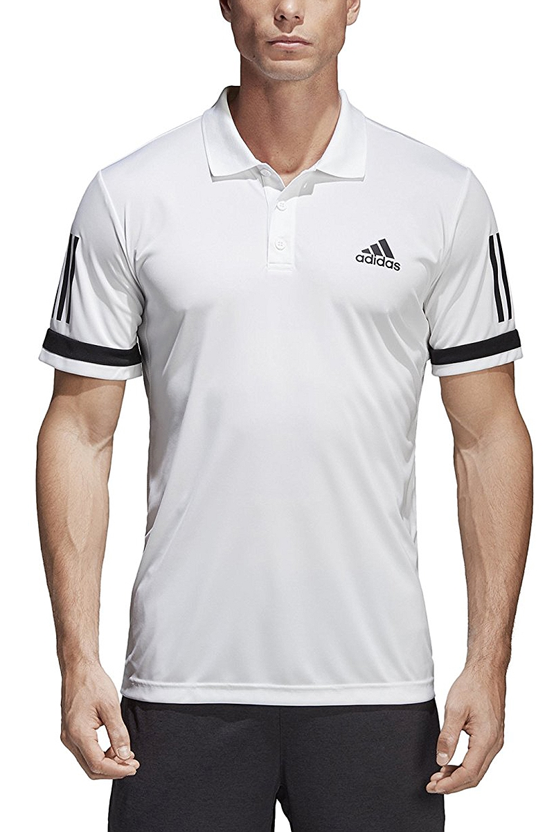 Μπλούζα Polo adidas 3-Stripes Club Polo CE1415-WHITE