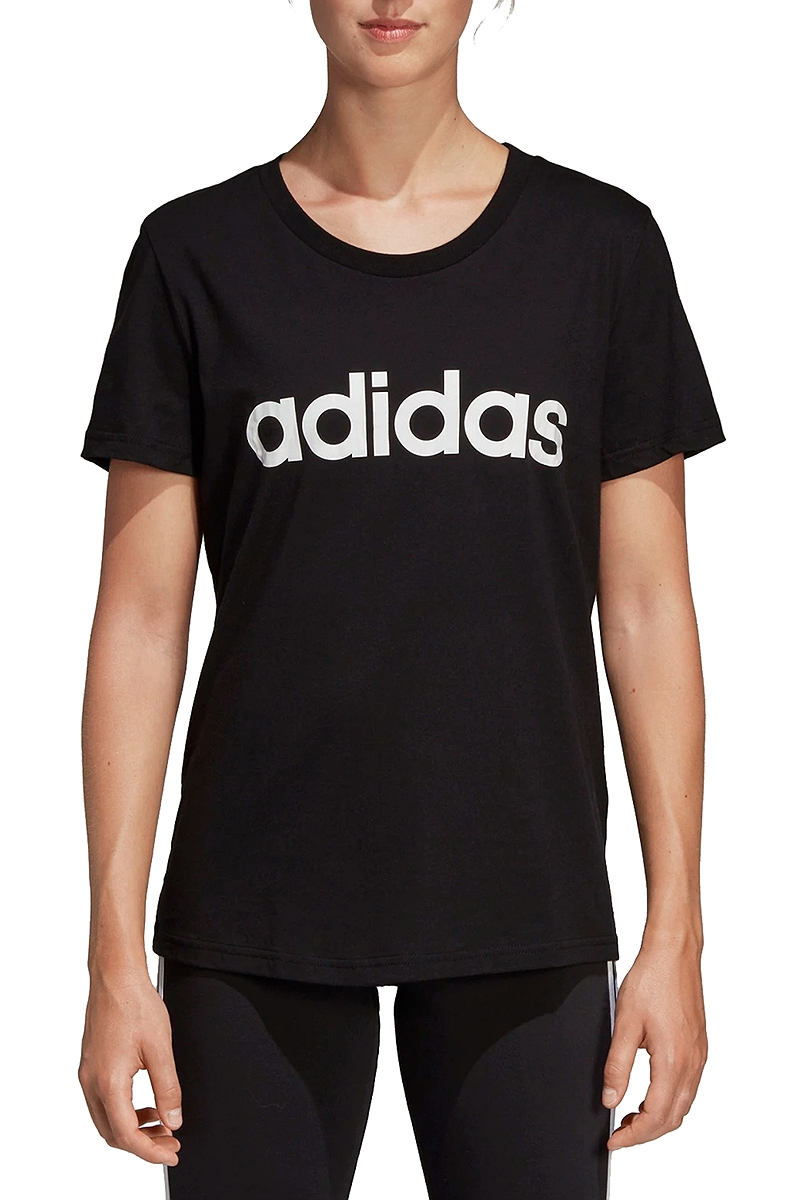 Μπλούζα Κοντομάνικη adidas Essentials Linear Tee DP2361-BLACK-WHITE