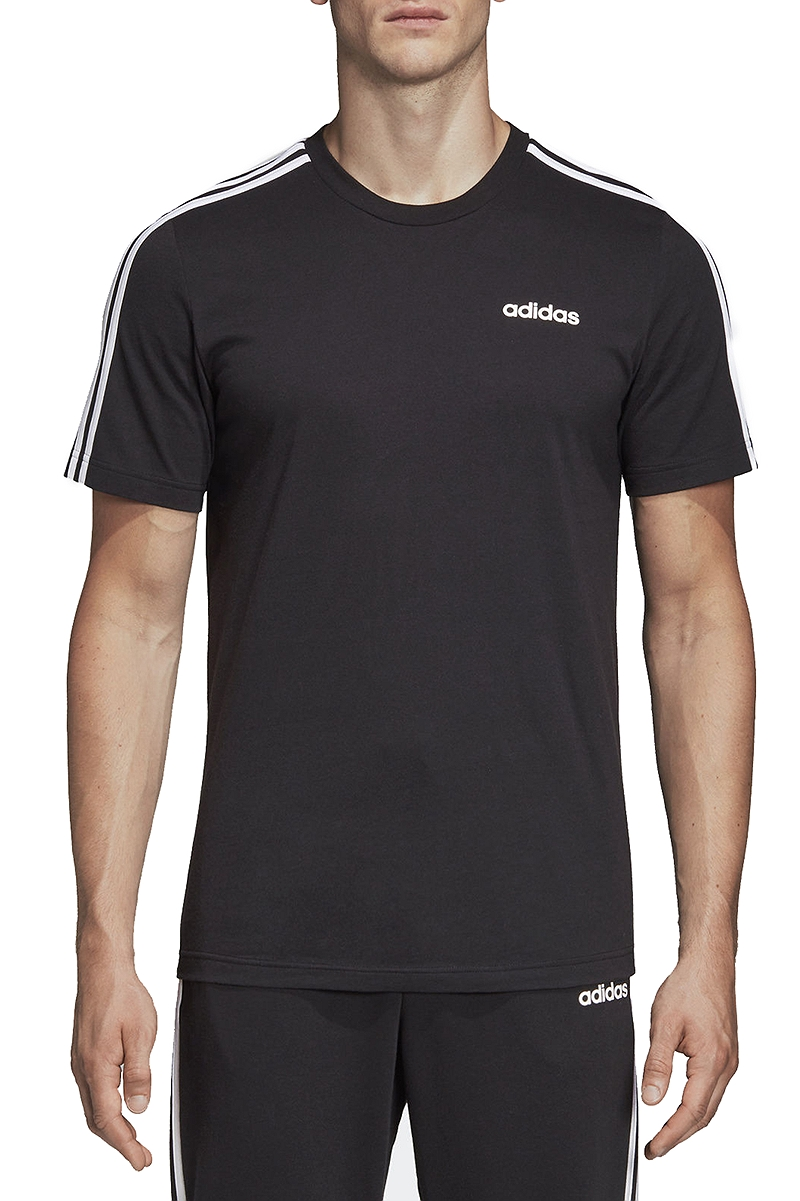 Μπλούζα Κοντομάνικη adidas Essentials 3-Stripes Tee DQ3113-BLACK-WHITE