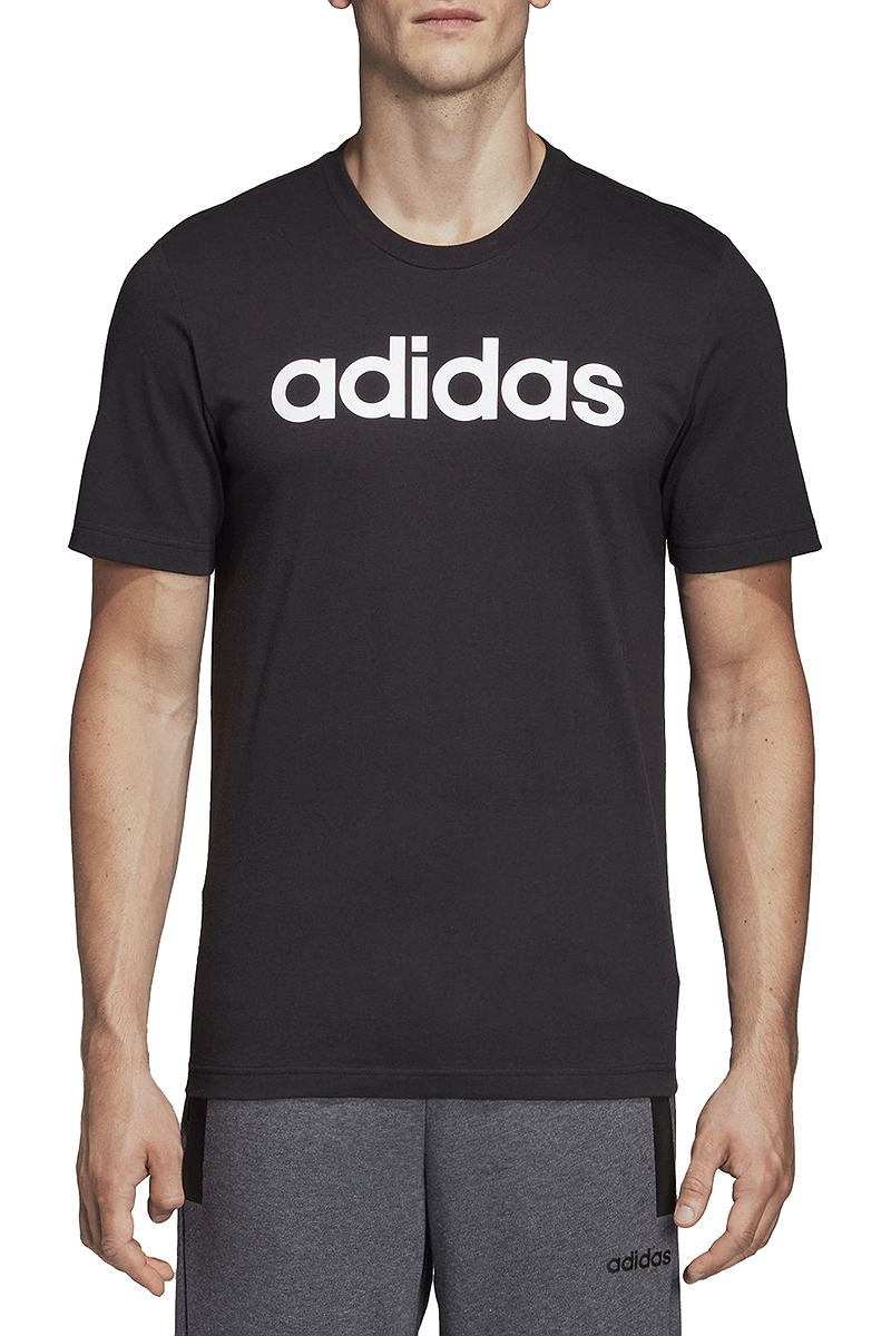 Μπλούζα Κοντομάνικη adidas Essentials Linear Logo Tee DU0404-BLACK-WHITE