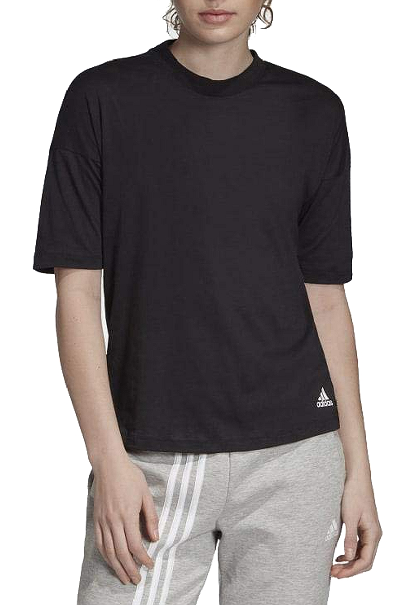 Μπλούζα Κοντομάνικη adidas Must Haves 3-Stripes Tee EB3820-BLACK-WHITE