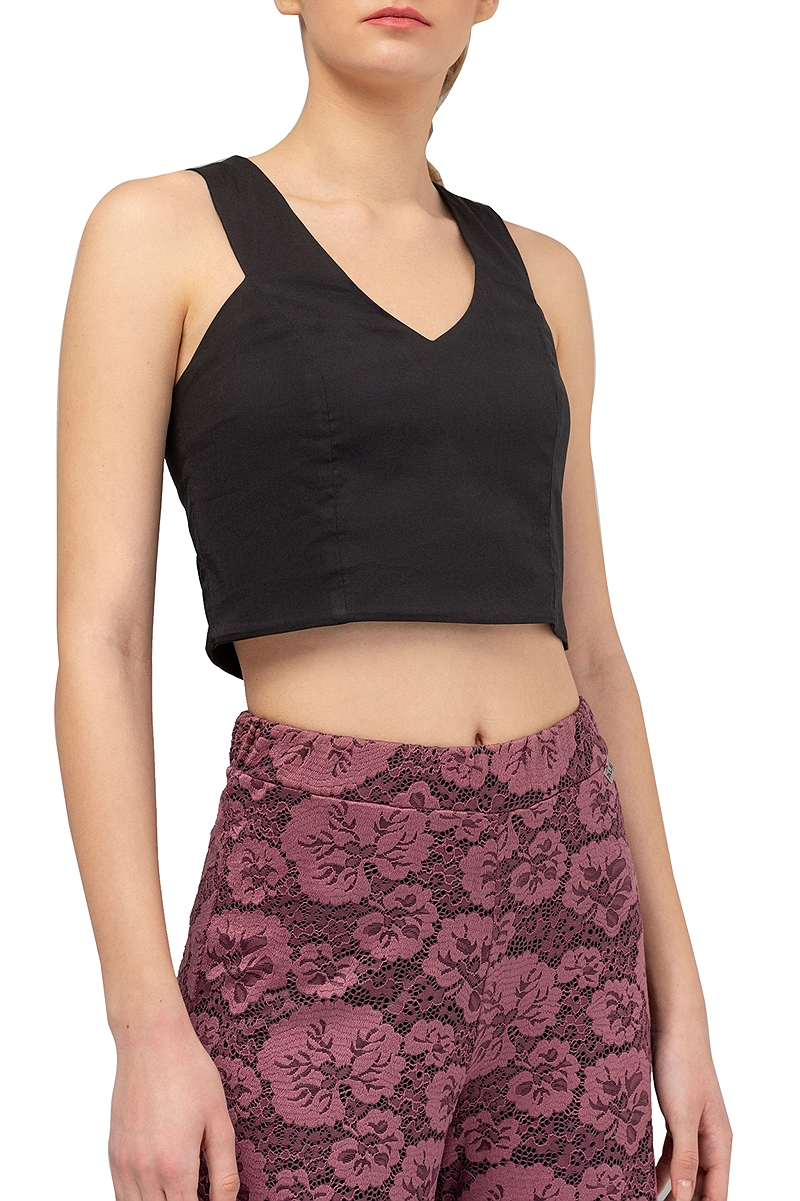 Top Ale Cropped Moνόχρωμο 82607230