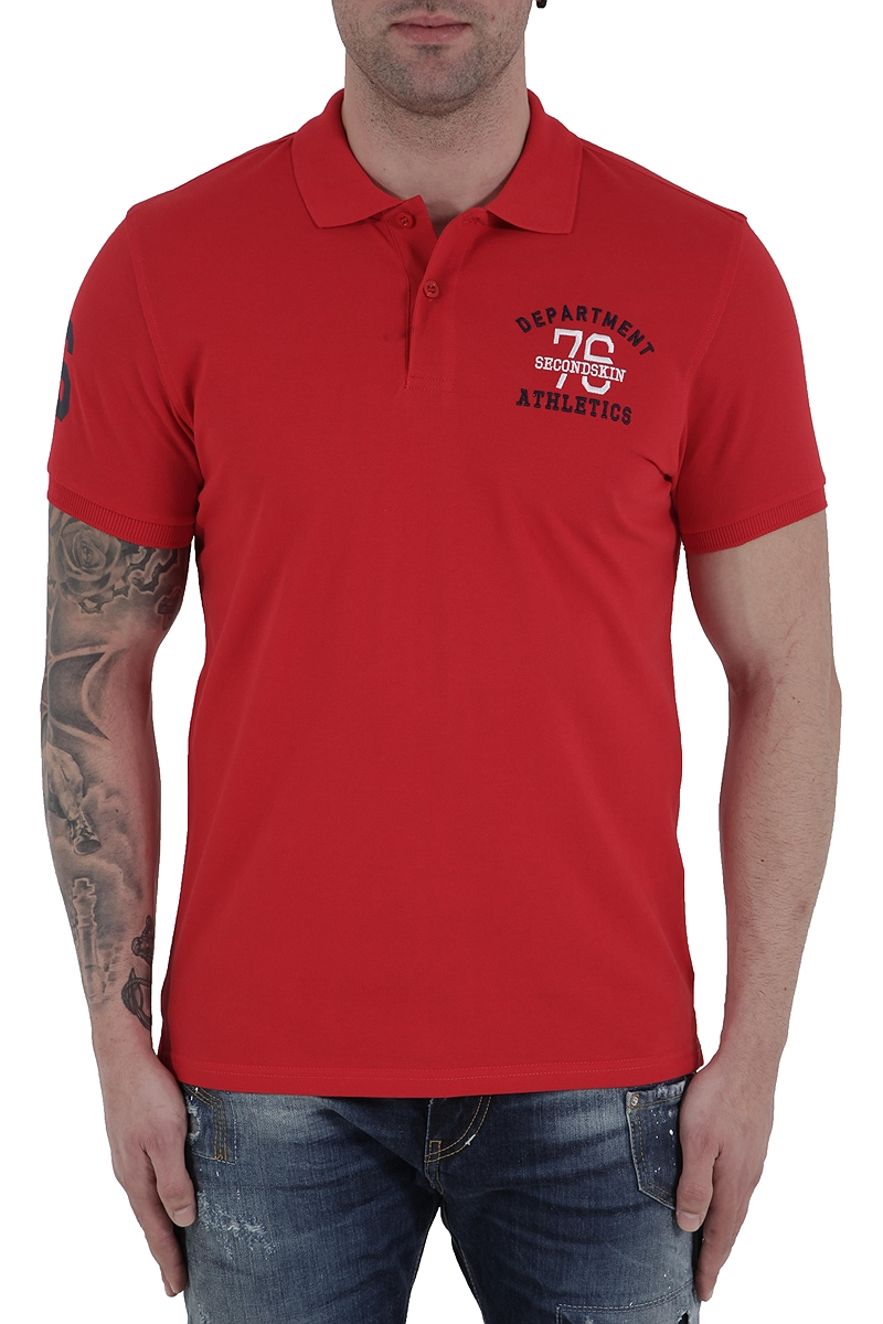 Μπλούζα Polo 2nd Skin Athletic Department SSM340-11117-RED