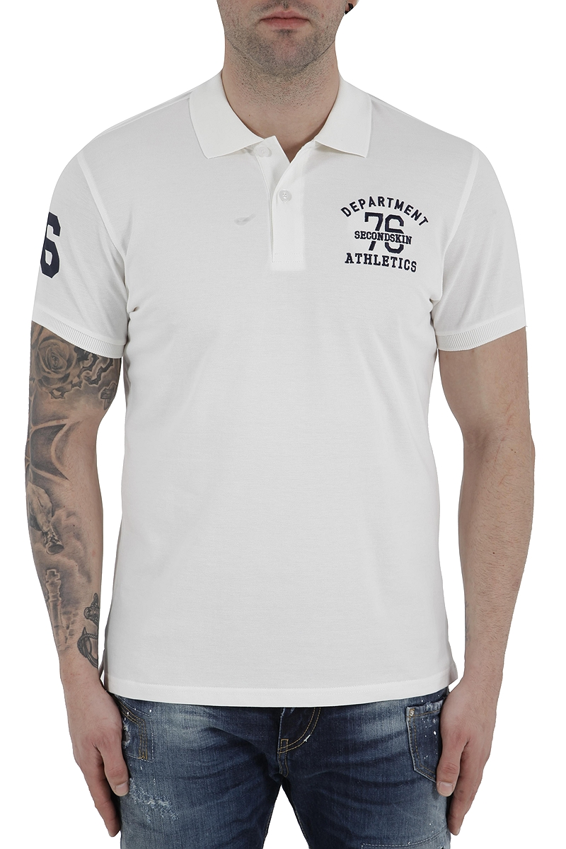 Μπλούζα Polo 2nd Skin Athletic Department SSM340-11117-OFF WHT