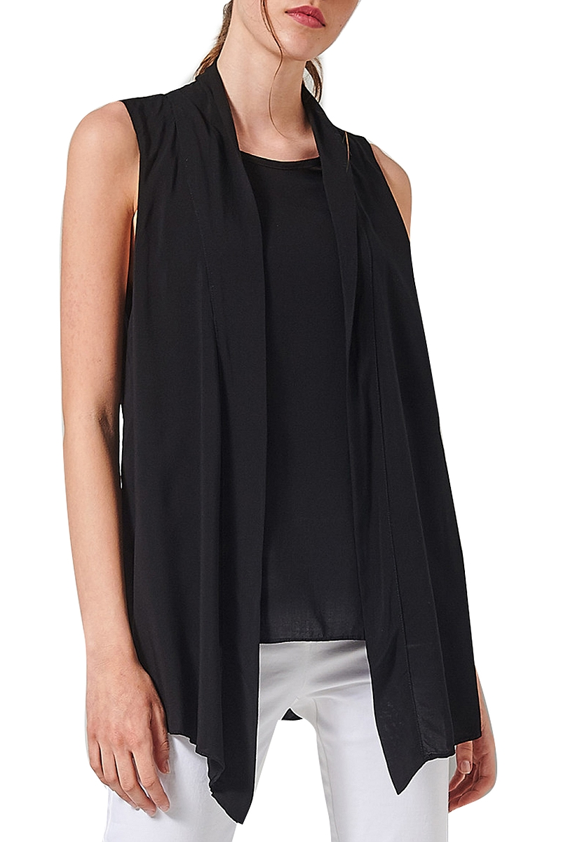 Top Ale Αμάνικο Με Layers 81361374-BLACK