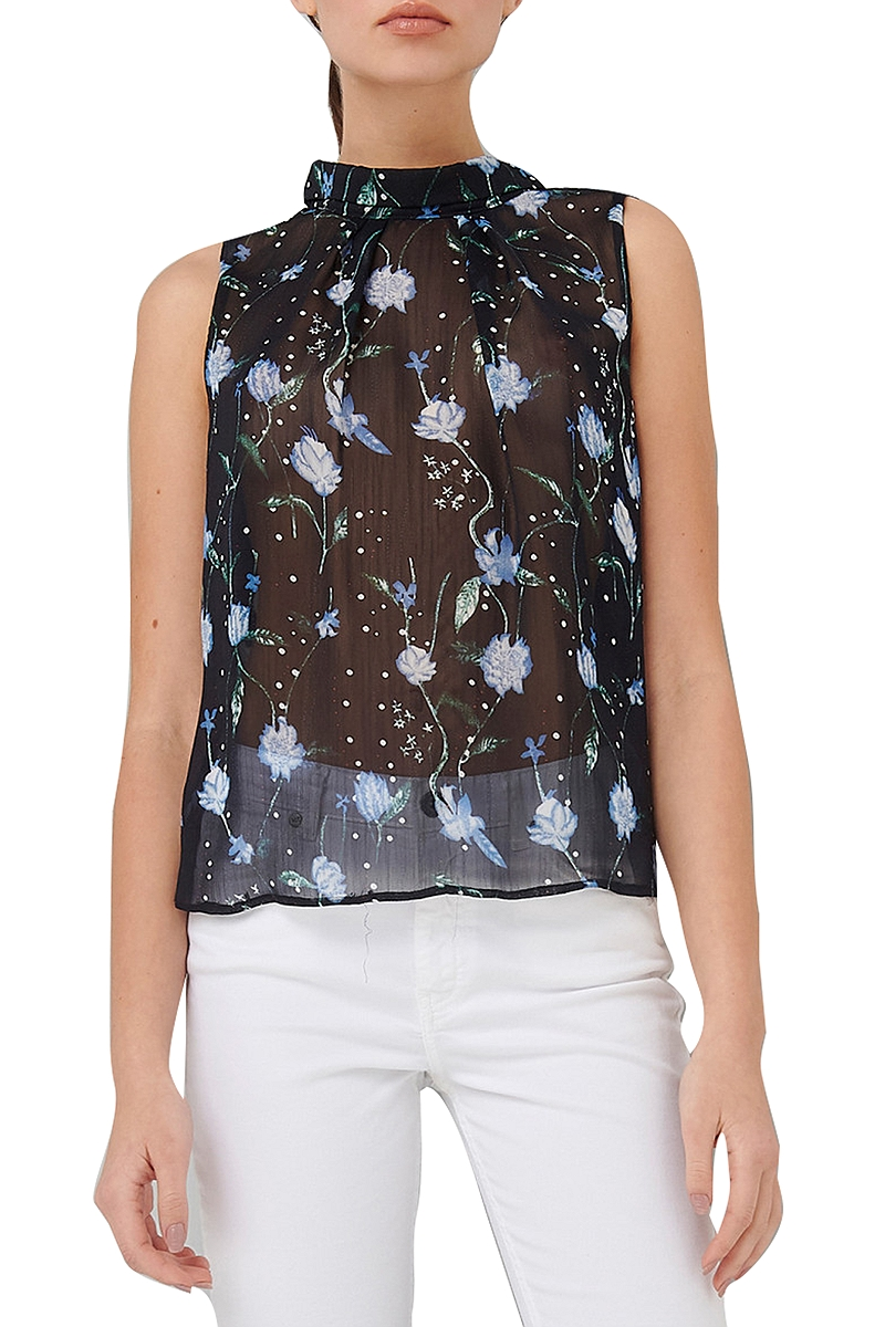 Top Ale Floral Ημιδιάφανο 8910057-BLACK