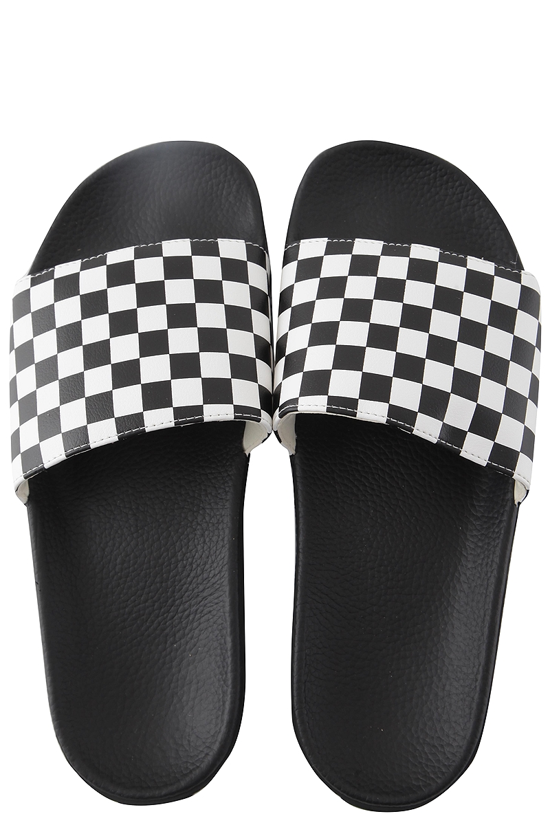 Slides Vans Slide-On VN0004KIIP9-Checkerboard-white