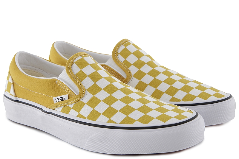 Slip On Vans Classic VN0A38F7VLY1-Checkerboard-yolk