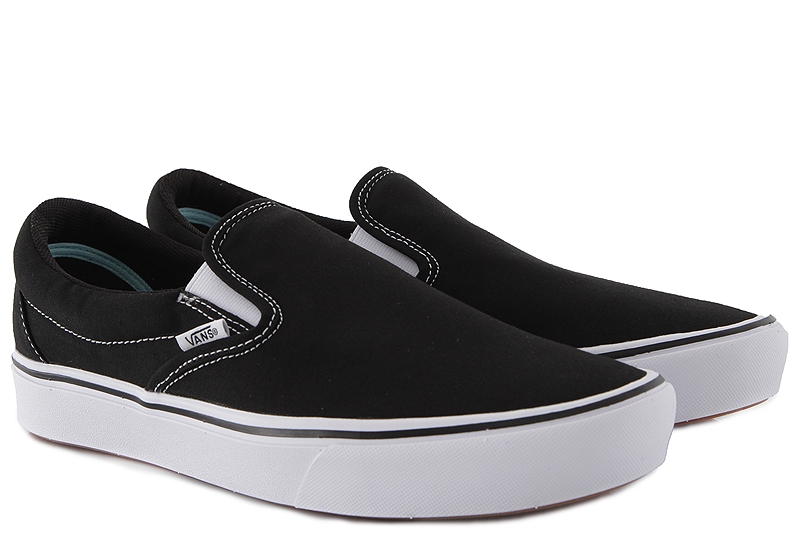 Slip On Vans ComfyCush VN0A3WMDVNE-BLACK-TRUE-WHITE