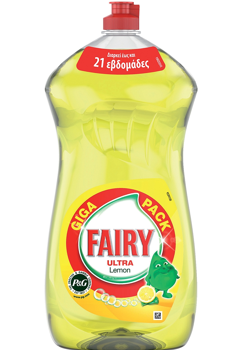 Υγρό Πιάτων Fairy Ultra Lemon 1.5Lt Giga Pack 4015600402792