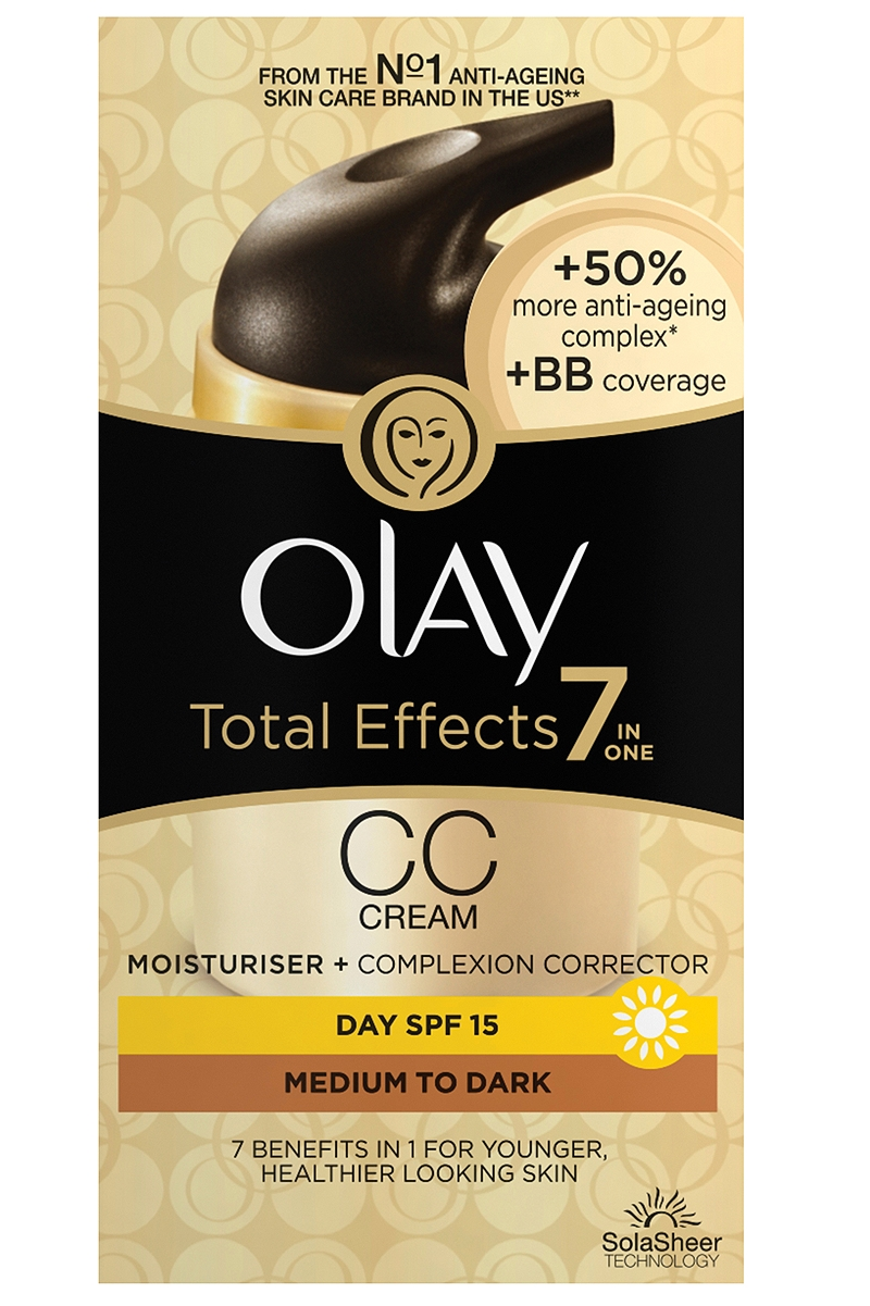 Κρέμα Ημέρας Olay Total Effects 7in1 CC Cream Moisturiser Medium To Dark 50ml 4015600780975