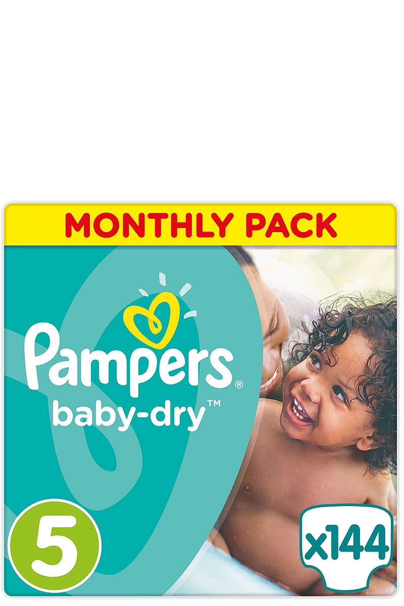 Baby Dry Pampers Monthly Pack Junior 144τεμ Νο 5 (11-25kg) 4015400566786