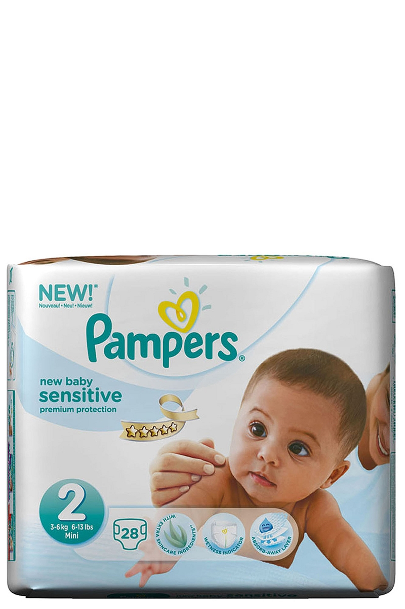 New Baby Pampers Mini Sensitive 28 τεμ. Νο2 (3-6kg) 4015400635109