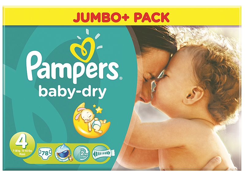 Baby Dry Pampers Maxi 78τεμ Νο 4 (7-18kg) 4015400629597