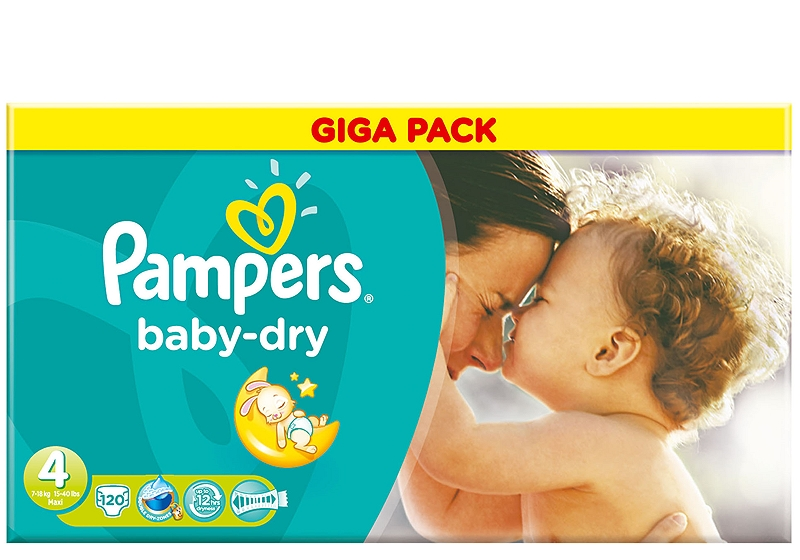 Baby Dry Pampers Maxi 120 τεμάχια Νο 4 (7-18kg) 4015400630418