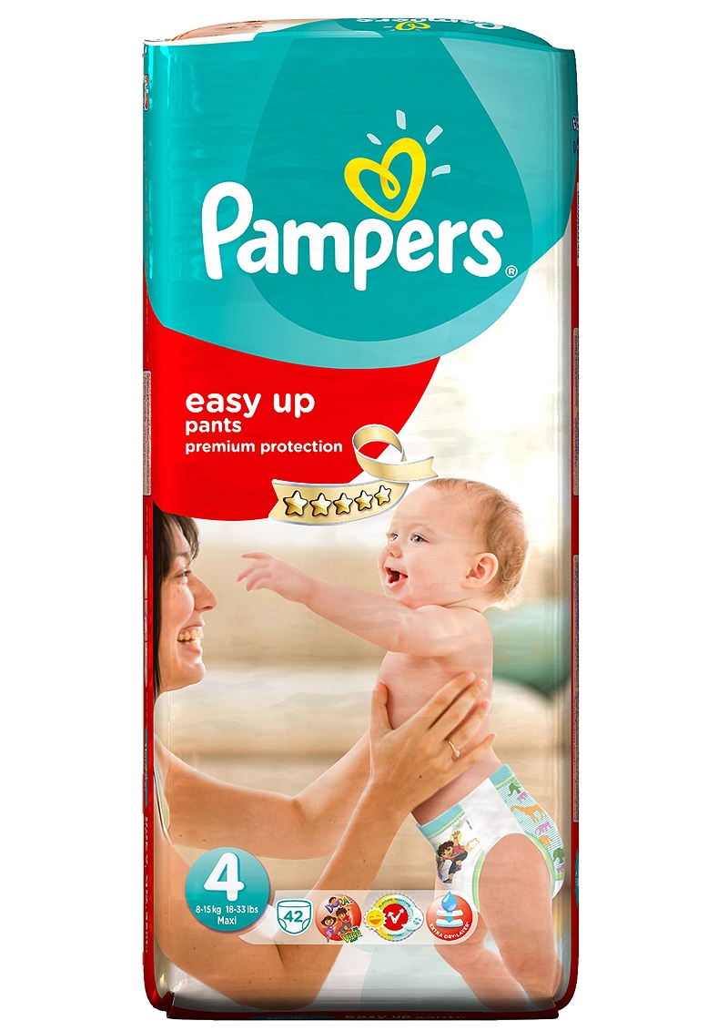 Easy Up Pampers Value Pack 42τεμ Νο 4 (8-15kg) 4015400535843