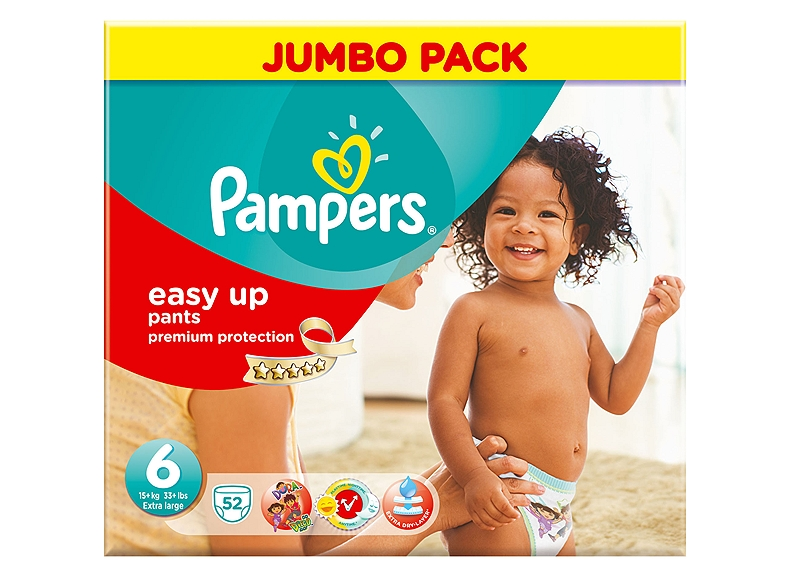 Easy Up Pampers XL 52 τεμάχια Νο 6 (16+kg) 4015400293750