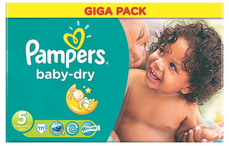 Baby Dry Pampers Junior 111τεμ  Νο 5 (11-25kg) 4015400645818