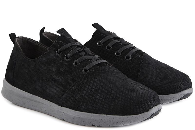 Sneaker Toms Del Rey Waterproof Black Suede Embossed 10009173