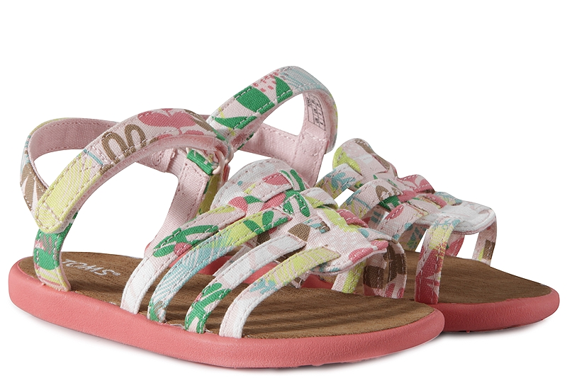 Σανδάλια Toms Huarache Pink Tropical Palms 10010031