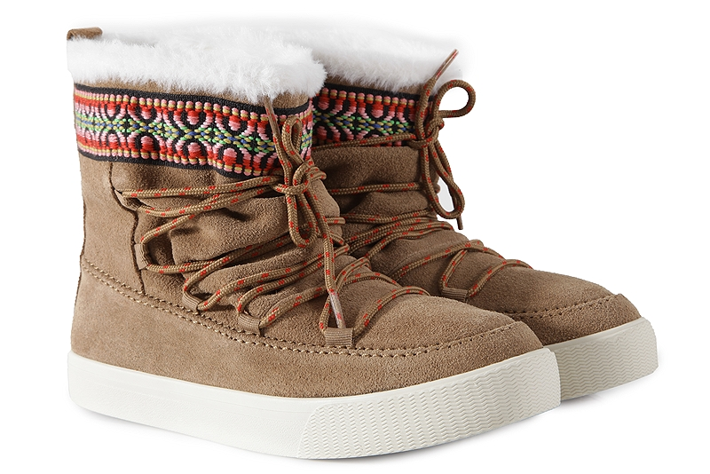 Μποτάκια Toms Alpine Toffee Waterproof Suede Tribal 10010904 12dc9743766