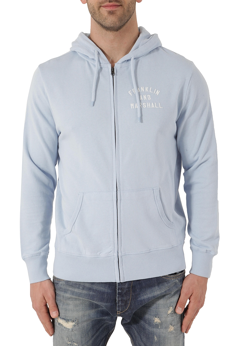 Ζακέτα Franklin Marshall Fleece Zip Hooded FLMF270ANS18