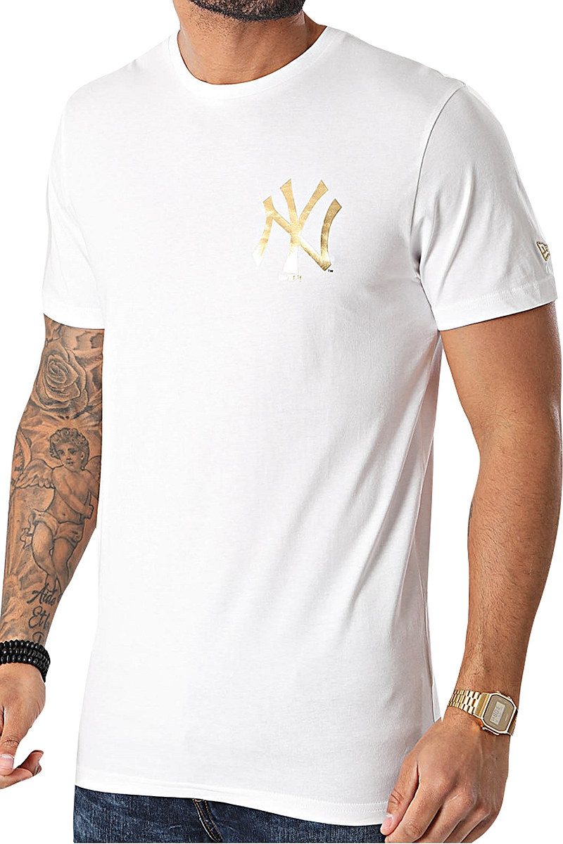 Μπλούζα Κοντομάνικη New Era Metallic Tee New York Yankees 12590864-WHI