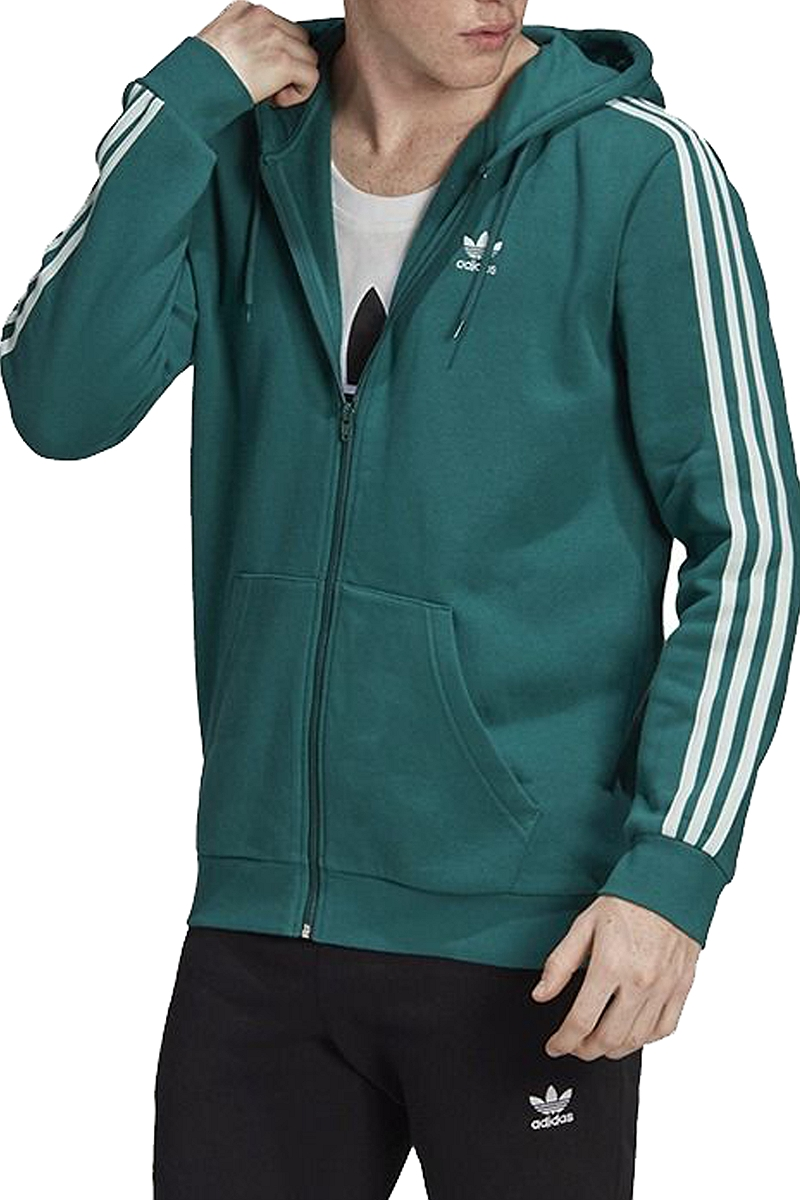 Ζακέτα adidas originals 3 Stripes Fleece Hoodie EK0258