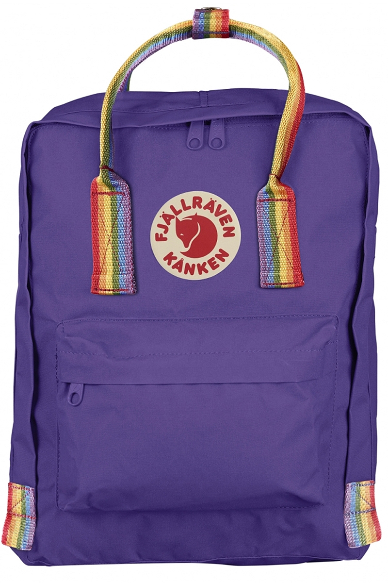 Τσάντα Πλάτης Fjallraven Kanken Rainbow Purple - Rainbow Pattern 23620-580-907